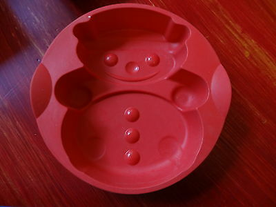 Tupperware Snowman Chistmas Cake Mold Silicone. New.