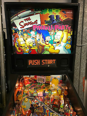 The Simpsons Pinball Party Machine Like New In Box Condition
