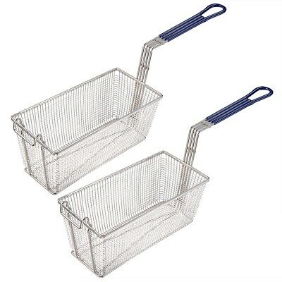 2 Frying Basket Deep Fryer Commercial Kitchen Restaurant Chip Fish 336x165x150mm