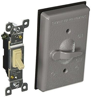 Hubbell Bell Hubbell-Bell 5121-0 Single Gang Weatherproof Switch Cover