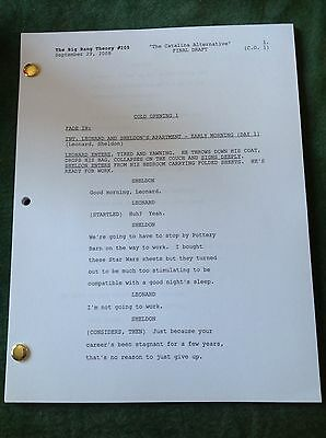 "The Big Bang Theory TV Script Final Draft ""The Catalina Alternative"" Episode 205"