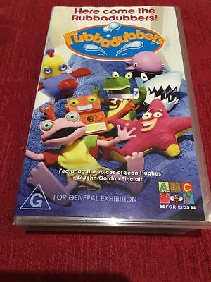 Abc Heres Comes The Rubbadubbers  Vhs Pal Video~A Rare Find