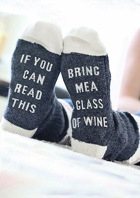 If you can read this/Bring me a glass of wine on the Sole socks Xmax Gift