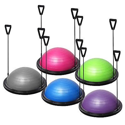 Yoga Ball Balance Training Strength Exercise Fitness Gym w/ Strings & Pump