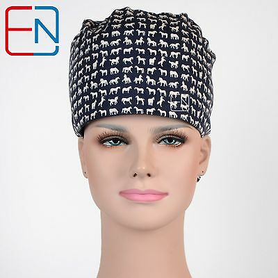 unisex surgical scrub medical surgery dentist cap/hats only-pixie-horses