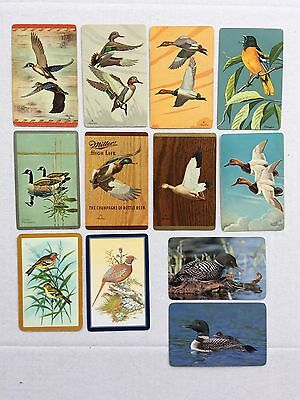 Mixed Lot of 12 X Vintage Swap / Playing Cards - Birds / Ducks etc