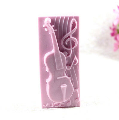 Violin S486 Silicone Soap molds Craft  DIY Handmade soap Mold Mould