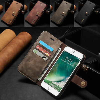 Luxury Magnetic Leather Removable Wallet Card Case Cover For iPhone 6s 7 7 Plus
