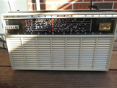 HMV Little Nipper tube AM radio Super 5, model 65-54, Vintage 1960's Australian