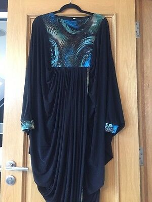 Brand New Abaya In Size 54- Green/turquoise Print