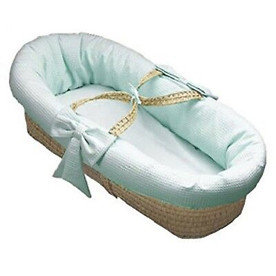 Baby Doll  Bedding Pique Moses Basket Blue