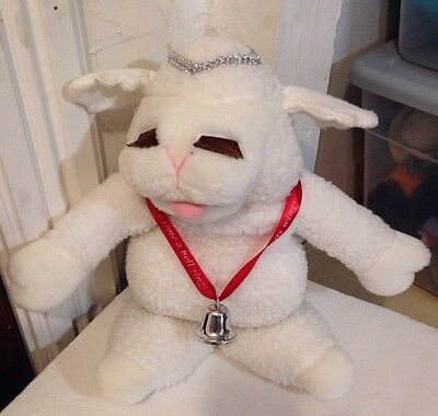 Lamb Chop Plush Puppet angel Wings Halo Bell Shari Lewis