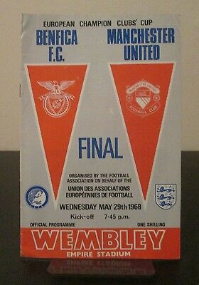 Benfica v Manchester United European Cup Final Wembley 1968 Original Programme