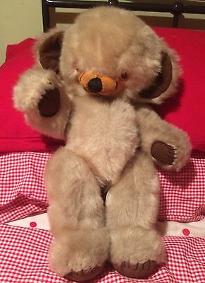 Vintage Antique Merrythought Cheeky Bear VGC late 60s early 70s bells VGC