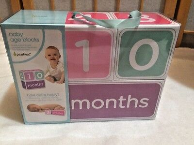 Pearhead Baby Age Blocks Girl Weeks Months Years How Old Is Baby