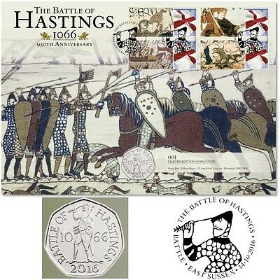 """Great Britain- 2016 """"The Battle Of Hastings 950th Anniversary"""" Coin Cover"""