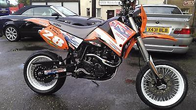 KTM 640 lc4 supermoto motorcycle