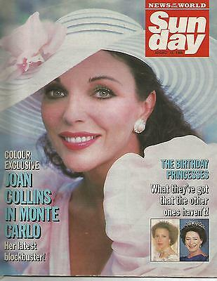Sun Day August 10th 1986 Joan Collins In Monte Carlo Her Latest Blockbuster