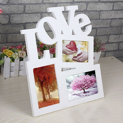 DIY Durable Hollow Love Wooden Photo Picture Frame Rahmen Home Decor New