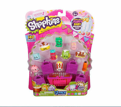 Shopkins Season 2 (12 Pack + 4 Bag's +1 Basket) Collectable Toys