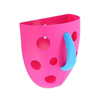 New Funny Security Plastic Baby Kids Bath Toy Scoop Storage Hanging box(Rose DP