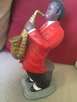 Large Compostion Figure of a Jazz Saxophonist,Red,Black And White Colour