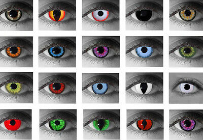 Crazy Coloured Contact Lenses Kontaktlinsen color contact lens color ONE PAIR