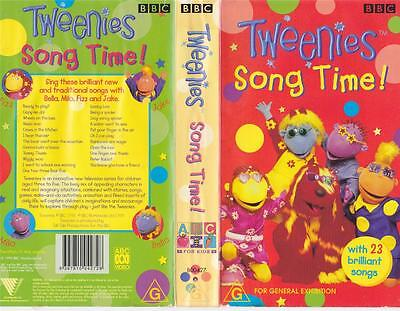 Tweenies Song Time  Vhs Pal Video A Rare Find