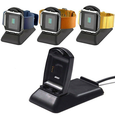 2in1 Charger Dock Charging Stand Holder for Fitbit Blaze Smart Watch & iPhone GB
