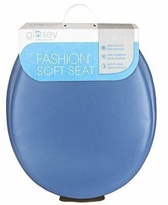 Ginsey Home Solutions Soft Toilet Seat - Padded for Extra Comfort - For Standard