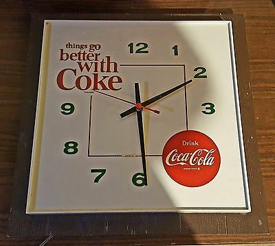 Things Go Better With Coke! Coca Cola Vintage 60's 70's Clock
