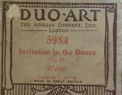 "Duo- Art Roll ""Invitation To The Dance"""