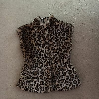 Mayoral Leopard Print Gilet Age 12 In Vgc