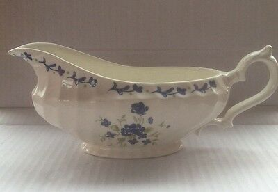 Churchill Blue Flower Georgian Gravy Boat