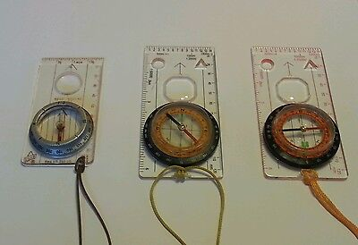vintage Silva lightweight Compass type 5 & two others ORIENTEERING COMPASS'S