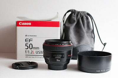 Canon EF 50mm F/1.2 L USM Lens in mint condition