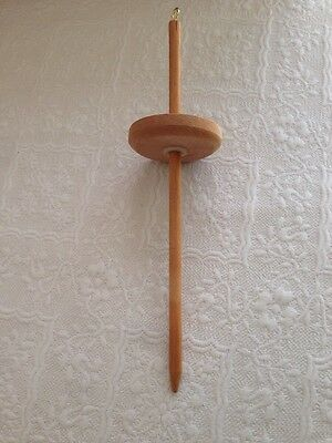 Wooden Drop Spindle, Wool Spinning Top And Wool