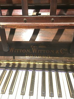 Upright Piano. Witton And Company, London.