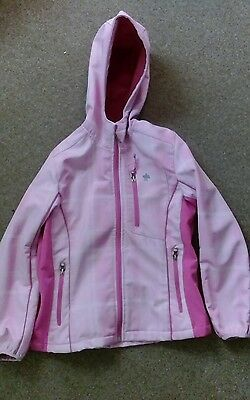pink winter jacket with hood age 9-10