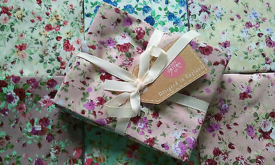Bundle Of 6 Fat Quarters Cottage Flowers Pinks100% Cotton Craft Patchwork Bnew