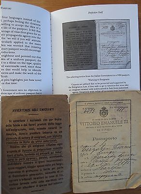 Famous Italian passport 1924 used in THE PASSPORT & copy of book.