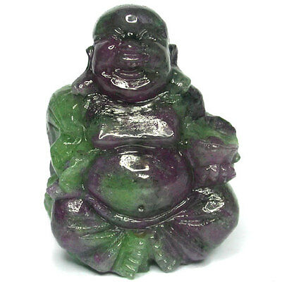 232.05ct Excellent Laughing Buddha carved in Natural Ruby Zoisite