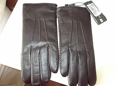 Armarni Gents Brown Leather Gloves