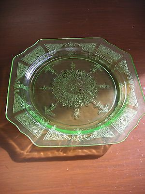 """Green Princess Depression Glass - 8 1/4"""" Salad Plate - by Anchor Hocking Co."""