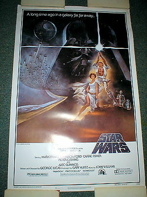1977 STAR WARS Fan Club Movie Poster~Excellent Condition~Never Displayed!