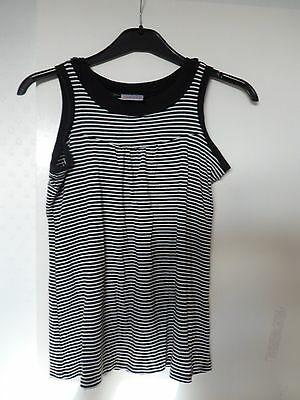 Next black and white striped childrens' top, size 12,