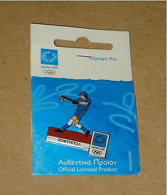 Authentic Athens 2004 Olympic Games Pin – Softball