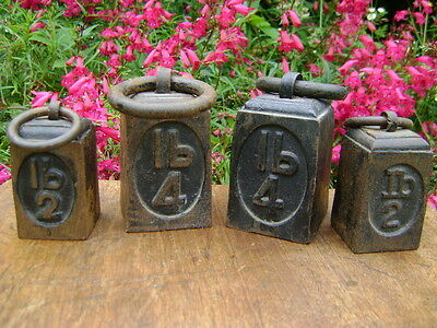 VINTAGE CAST IRON RING BELL WEIGHTS SCALES/DOORSTOP/PAPERWEIGHT/DISPLAY 2lb 4lb