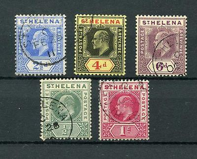 St Helena 1902 and 1908 to 6d SG53/4 & SG64/7a FU