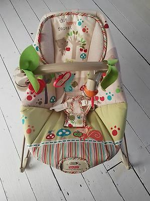 Fisher Price Woodsie Friends baby bouncer with calming vibrations